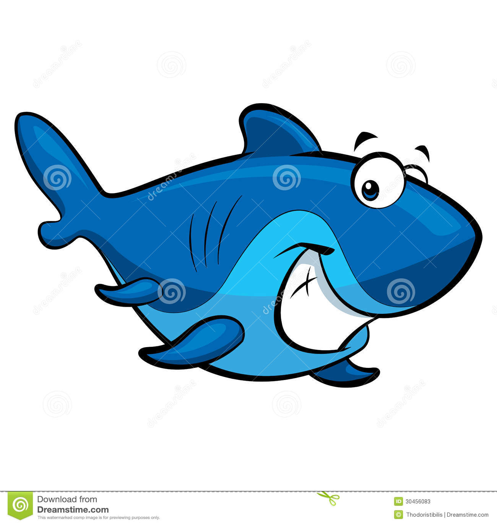 cartoon smiling shark stock illustration illustration of friendly rh dreamstime com Friendly Shark Clip Art Shark Outline Clip Art
