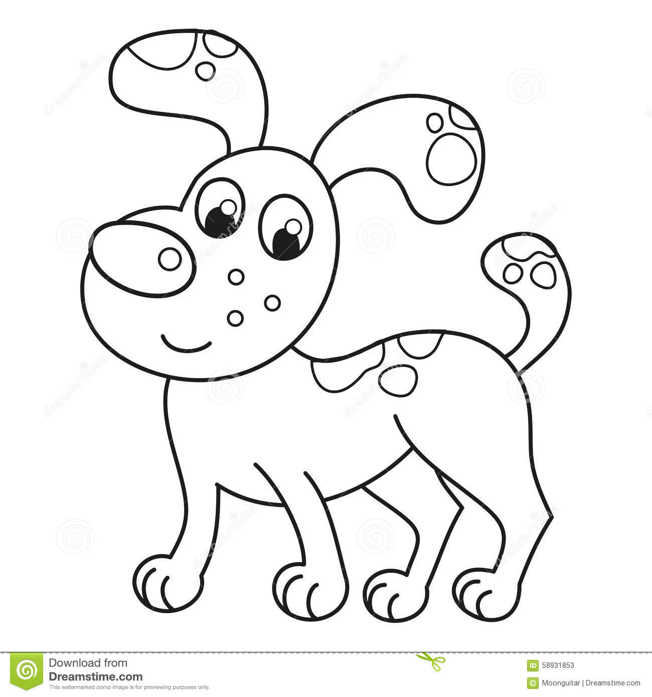 Cartoon Smiling Spotty Puppy, Naughty Dog Stock Vector - Image ...