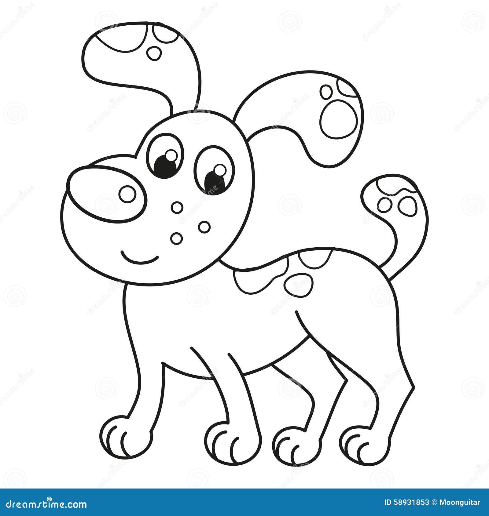 Cartoon Smiling Spotty Puppy Naughty Dog Stock Vector