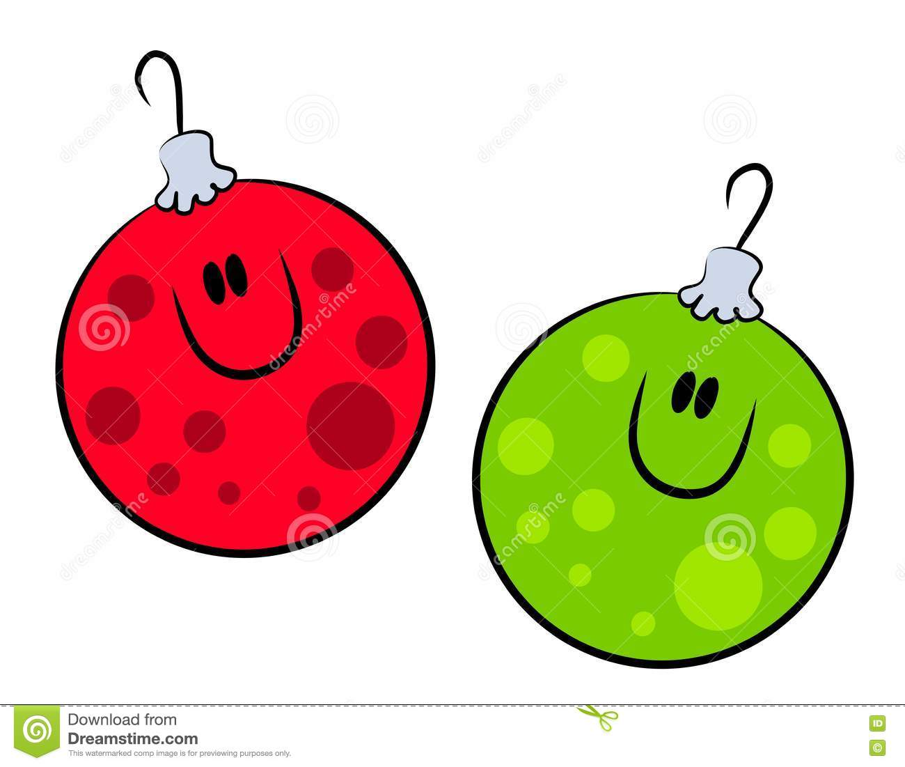 Cartoon Smiling Xmas Ornaments Picture Image 3551038