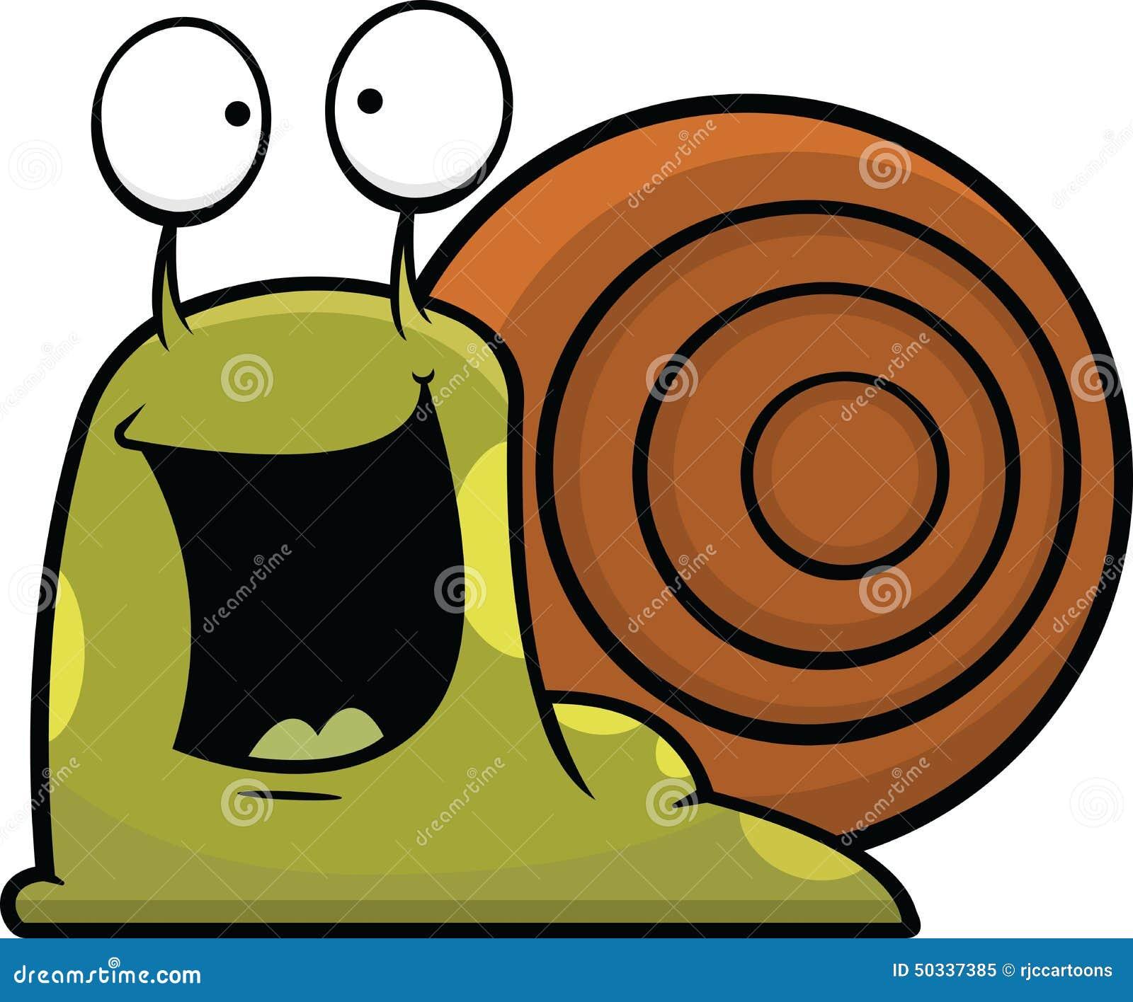 Cartoon snail happy stock vector illustration of funny - Clipart escargot ...