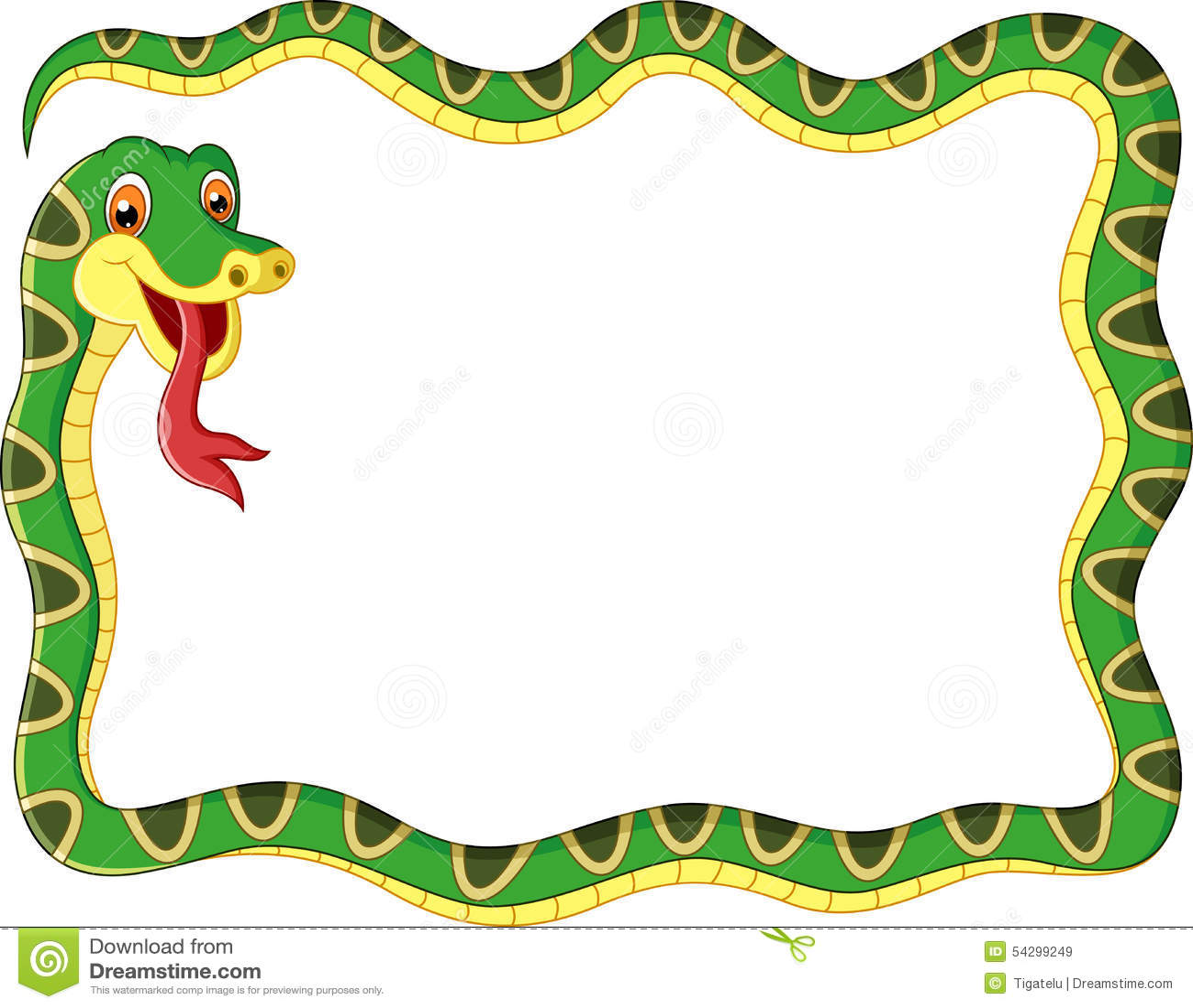Cartoon Snake Frame Stock Illustration - Image: 54299249