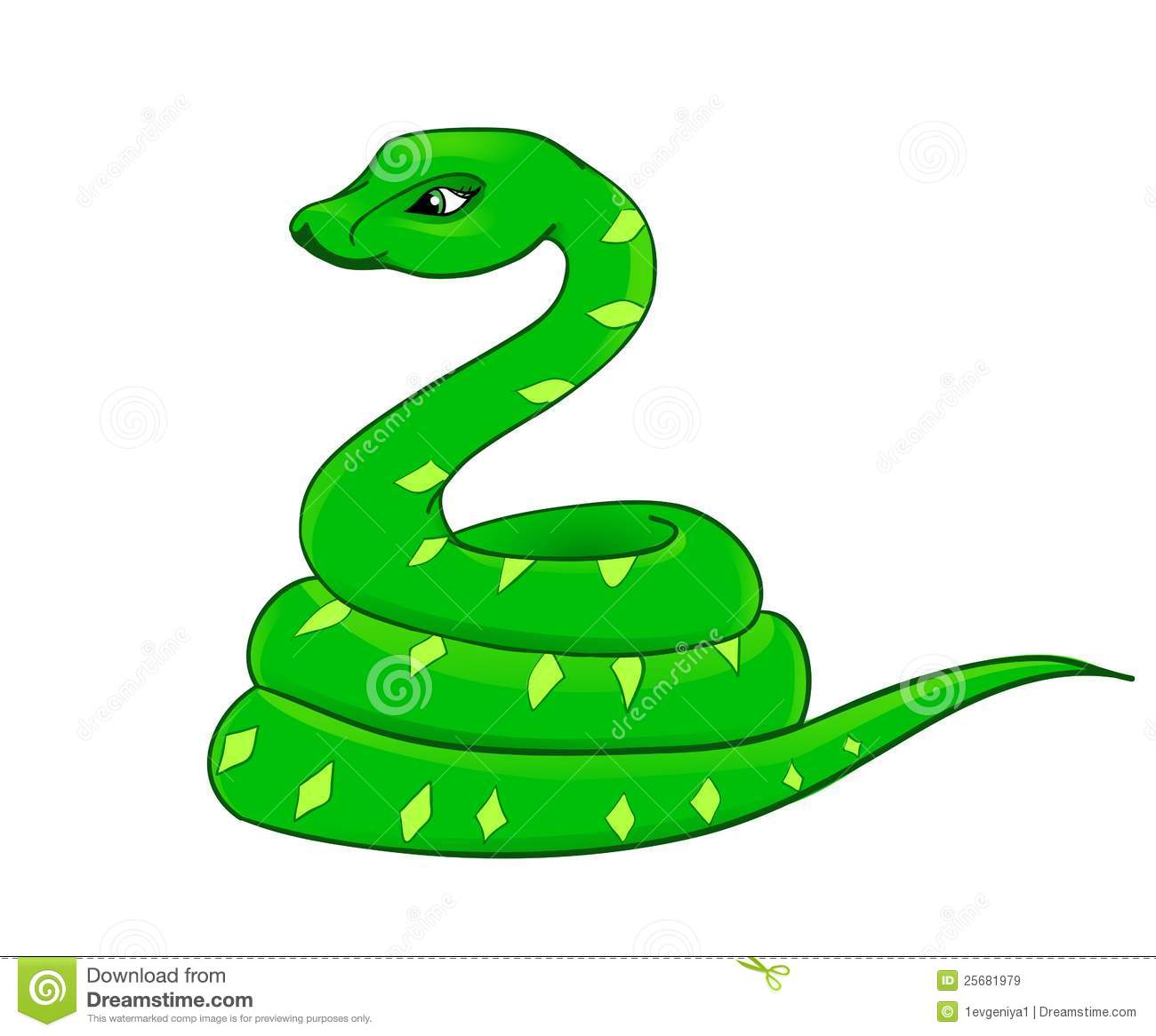 Cartoon Snake, The Symbol Of 2013 Royalty Free Stock ...
