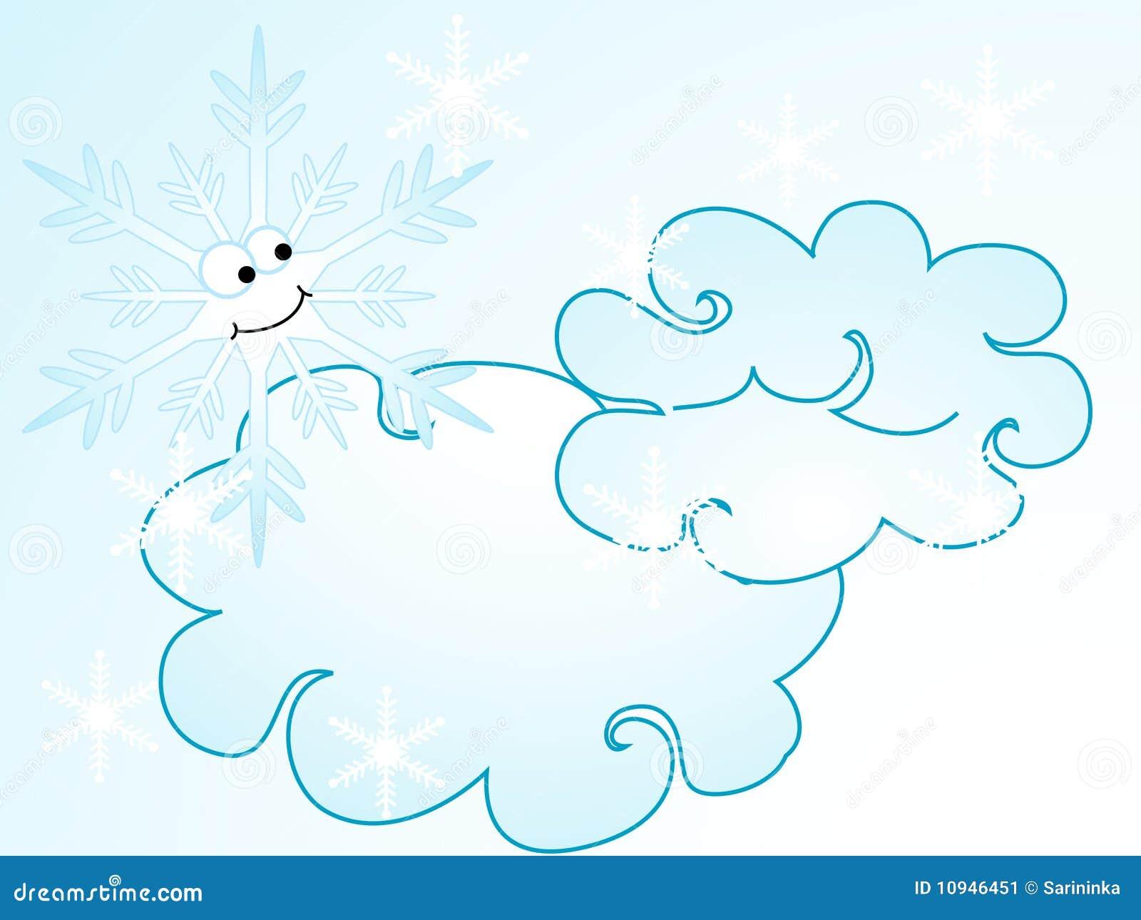 Cartoon snowflake stock vector. Illustration of snowflake ...
