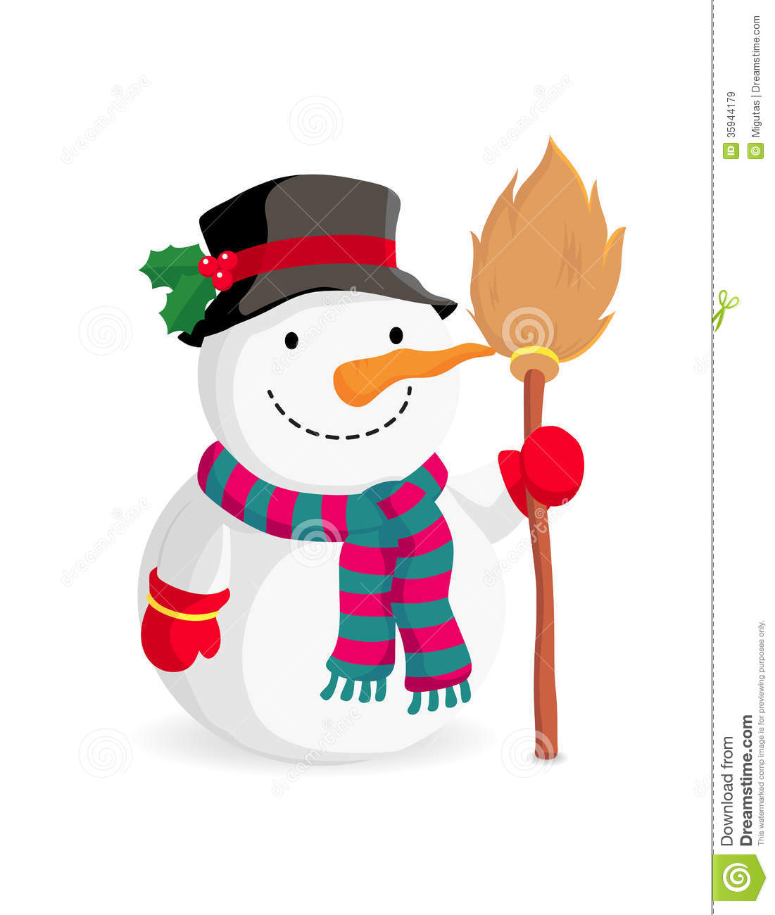 Cartoon Snowman Royalty Free Stock Images - Image: 35944179