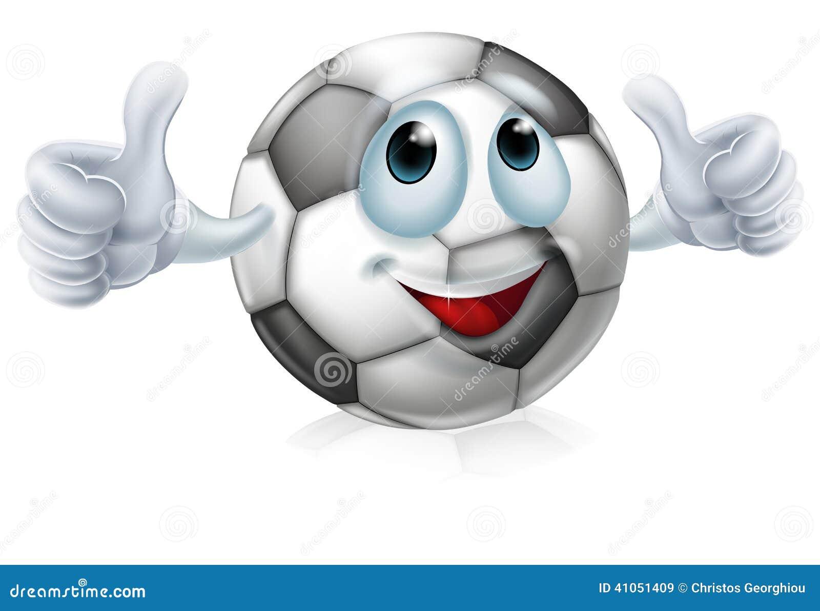 cartoon soccer ball character stock vector