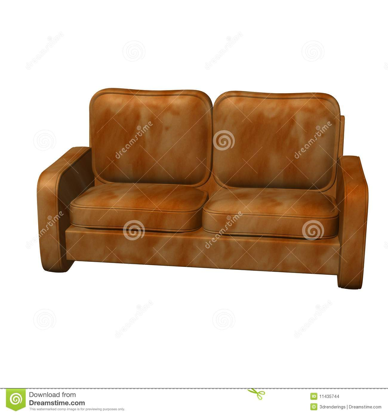 Cartoon Sofa Stock Images