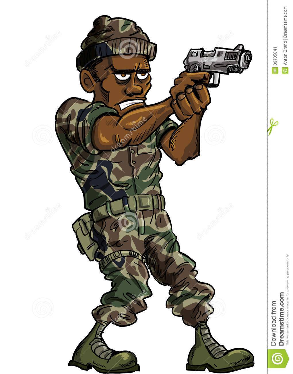 Cartoon Soldier With A Hand Gun Stock Image - Image: 33705841 Soldier With Gun Cartoon