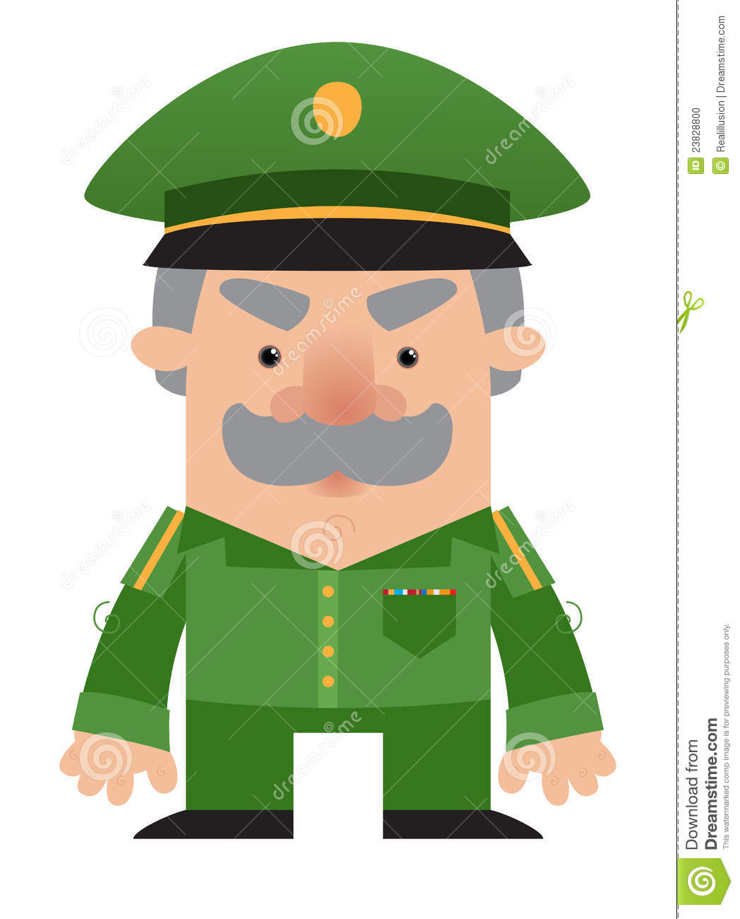 Cartoon Soldier Officer Stock Photo - Image: 23828800