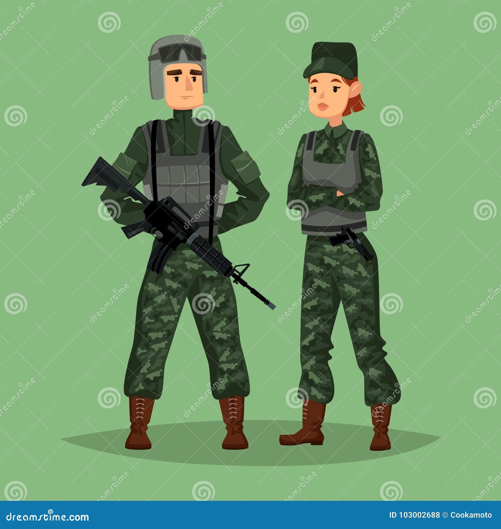 why do women like military men