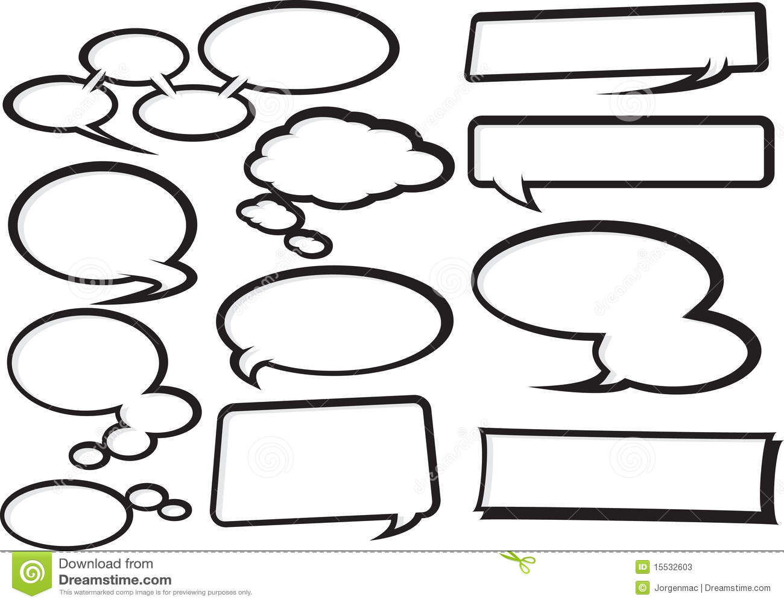 Cartoon Speech Bubble Collection 1 Stock Photos - Image: 15532603