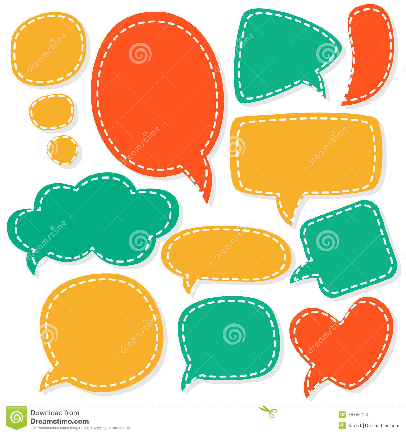 Cartoon speech bubbles. Different sizes and forms.