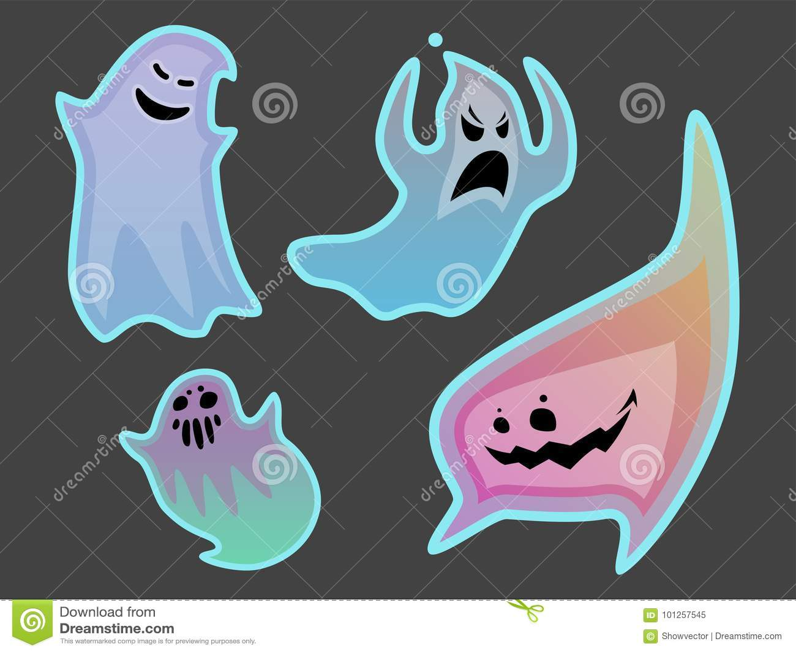 evil cartoon ghost - HD1300×1084