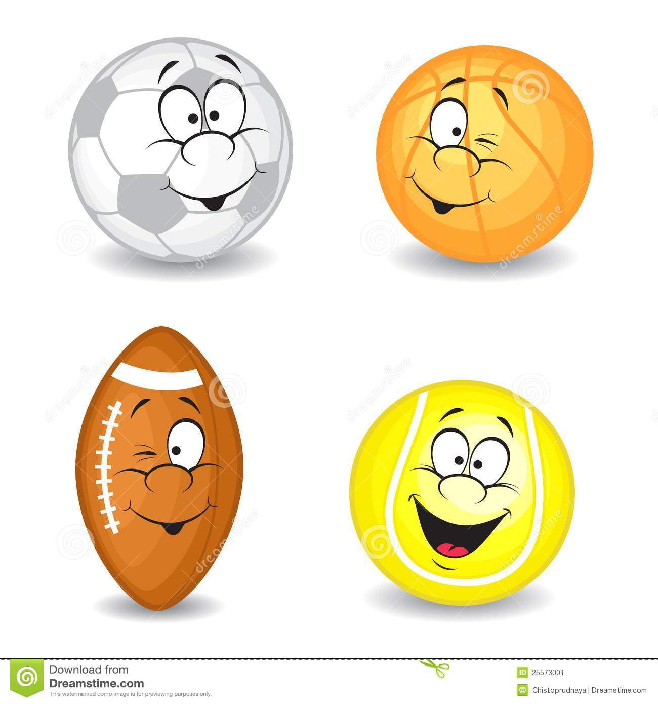 Cartoon Sport Balls Stock Image - Image: 25573001