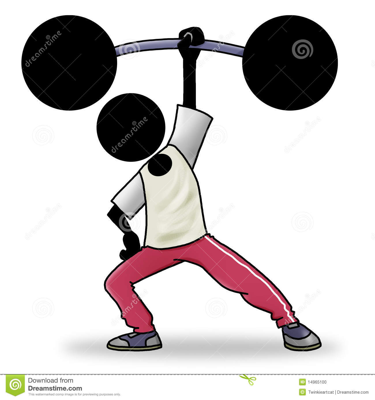 Strong Cartoon Man Lifting Weights Images & Pictures - Becuo