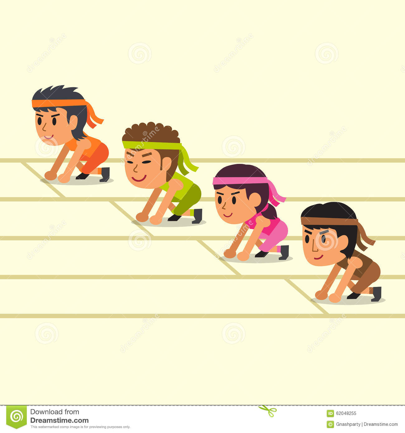 Cartoon Sport People Ready To Run Stock Vector - Image: 62048255 Zebra Weight