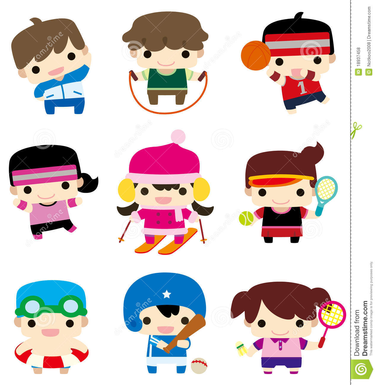 Cartoon Sport Player Icon Royalty Free Stock Photos - Image: 18937458