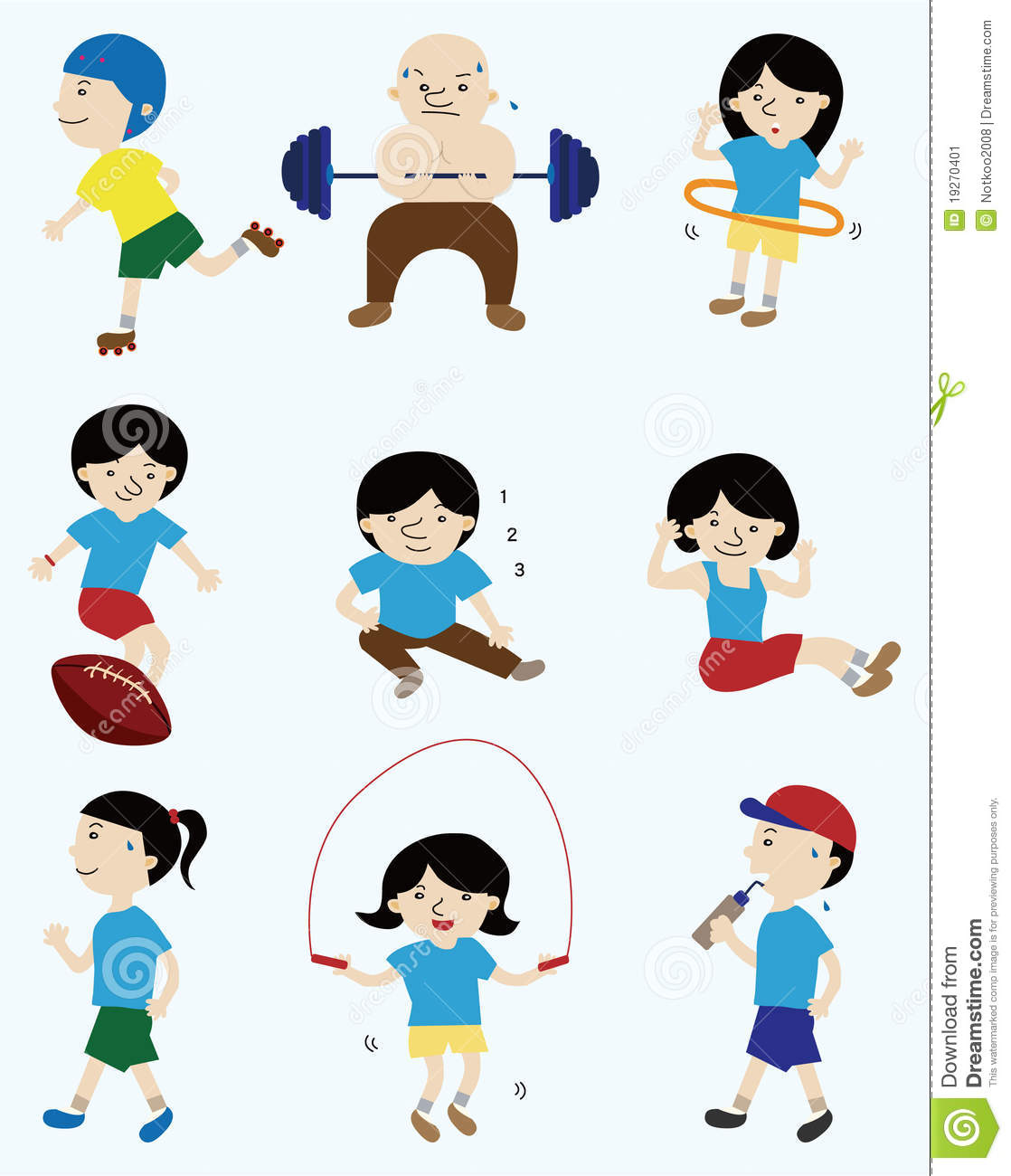 cartoon sport player icon illustration vector drawing preview
