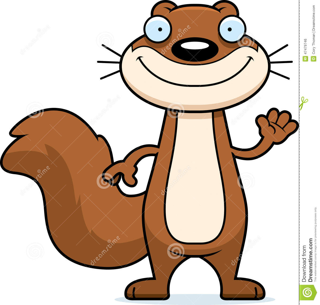 Cartoon Squirrel Waving Stock Vector - Image: 47479746