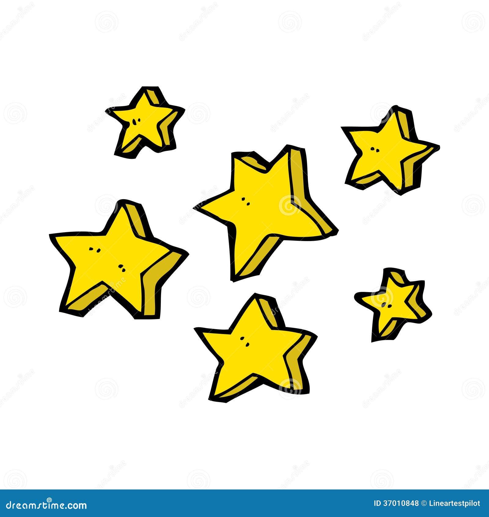 Cartoon stars stock illustration. Illustration of symbol ...