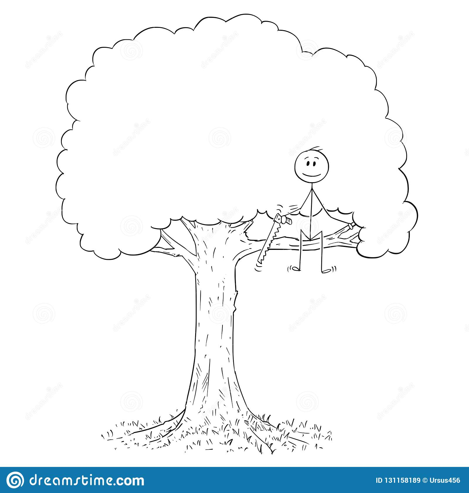 This is a picture of Gorgeous Stick Tree Drawing