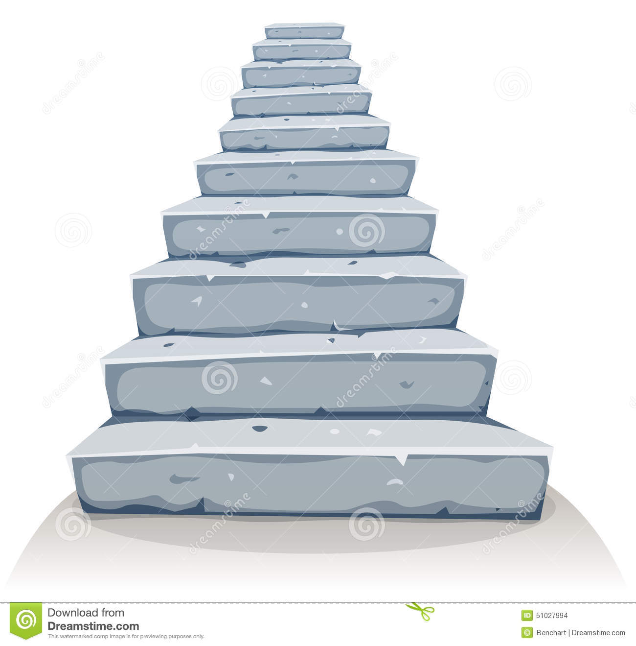 cartoon stone stairs illustration funny rock stairway castle old house construction 51027994