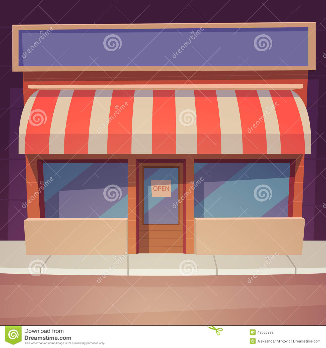 cartoon store stock vector image 48506782 Storefront Windows storefront clipart free