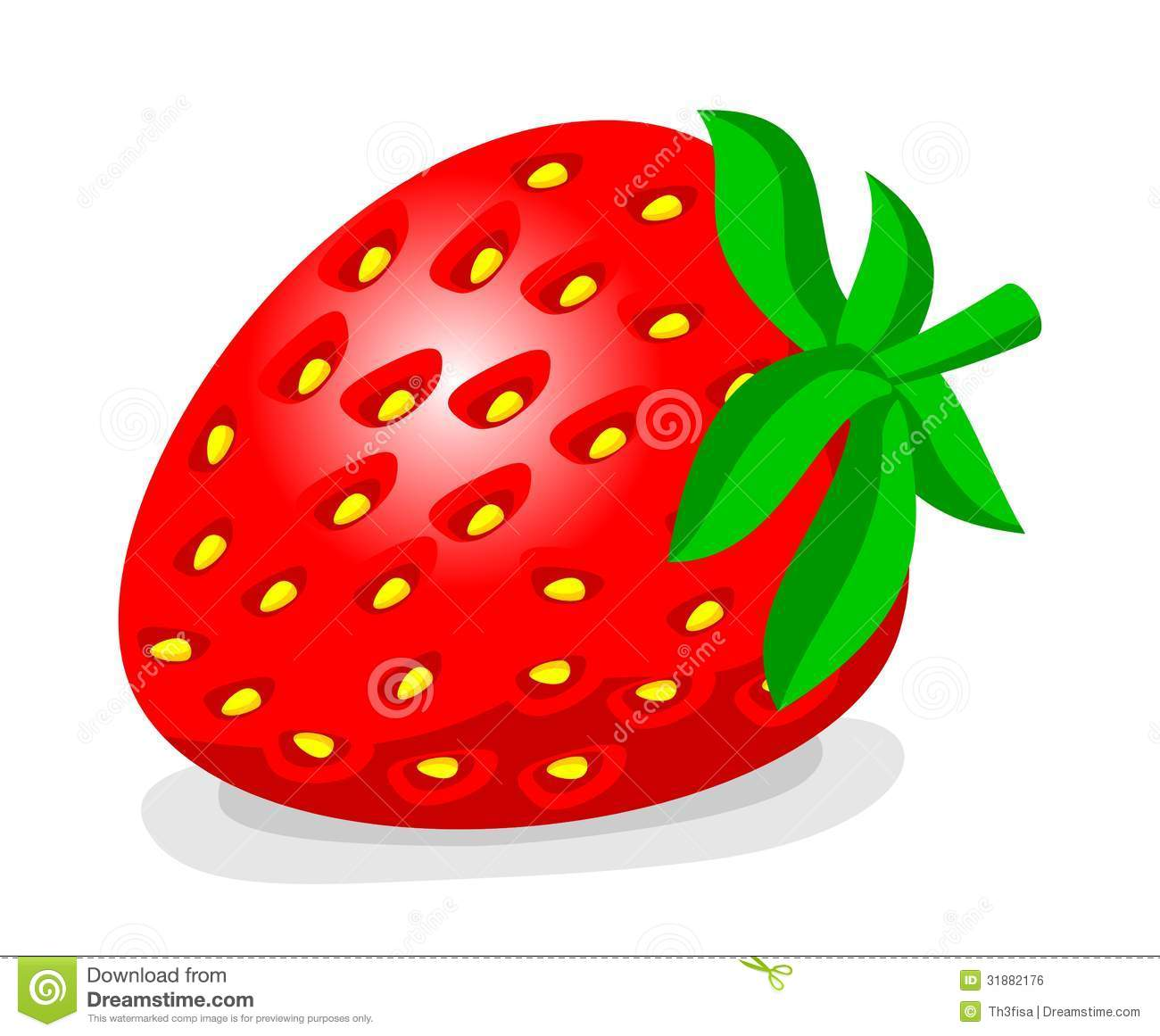 Cartoon Strawberry Royalty Free Stock Image - Image: 31882176