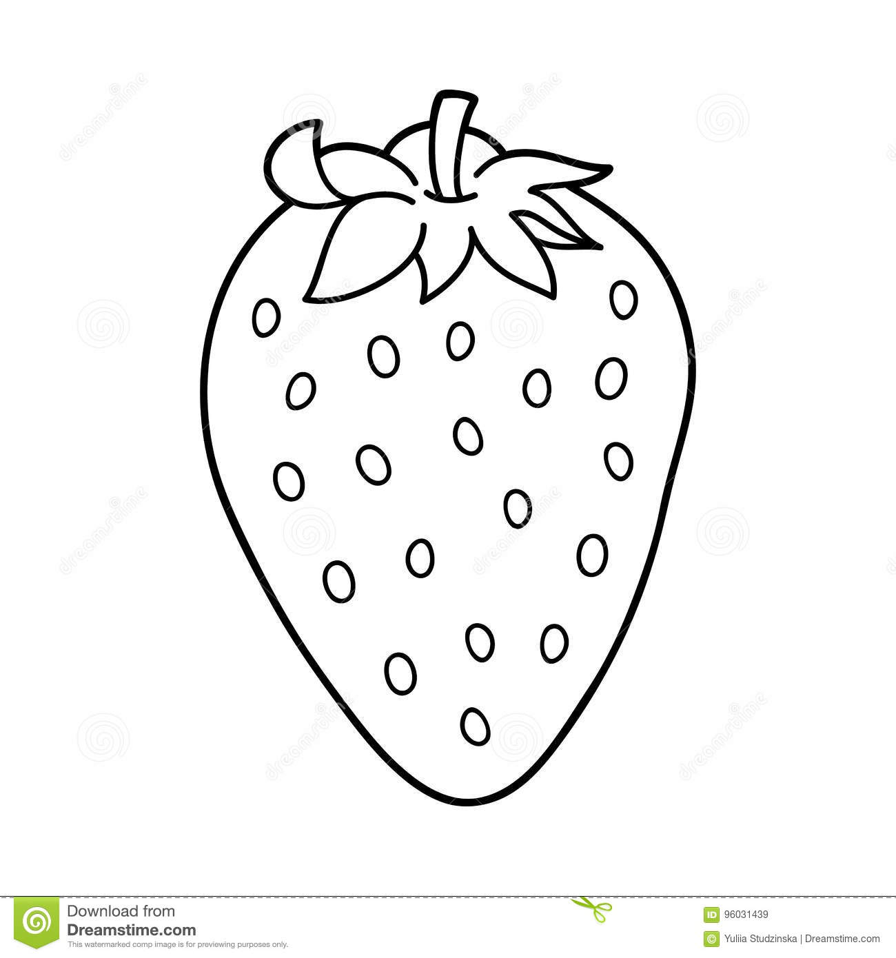 Cartoon Strawberry Outlines Stock Vector - Illustration of ...