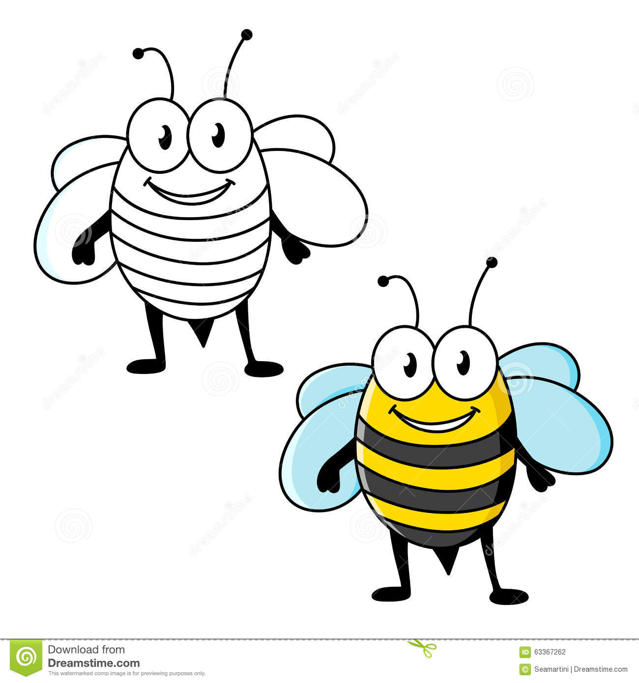 Cartoon Characters Yellow And Black Striped Shirts : Cartoon striped bee insect with happy smile stock vector