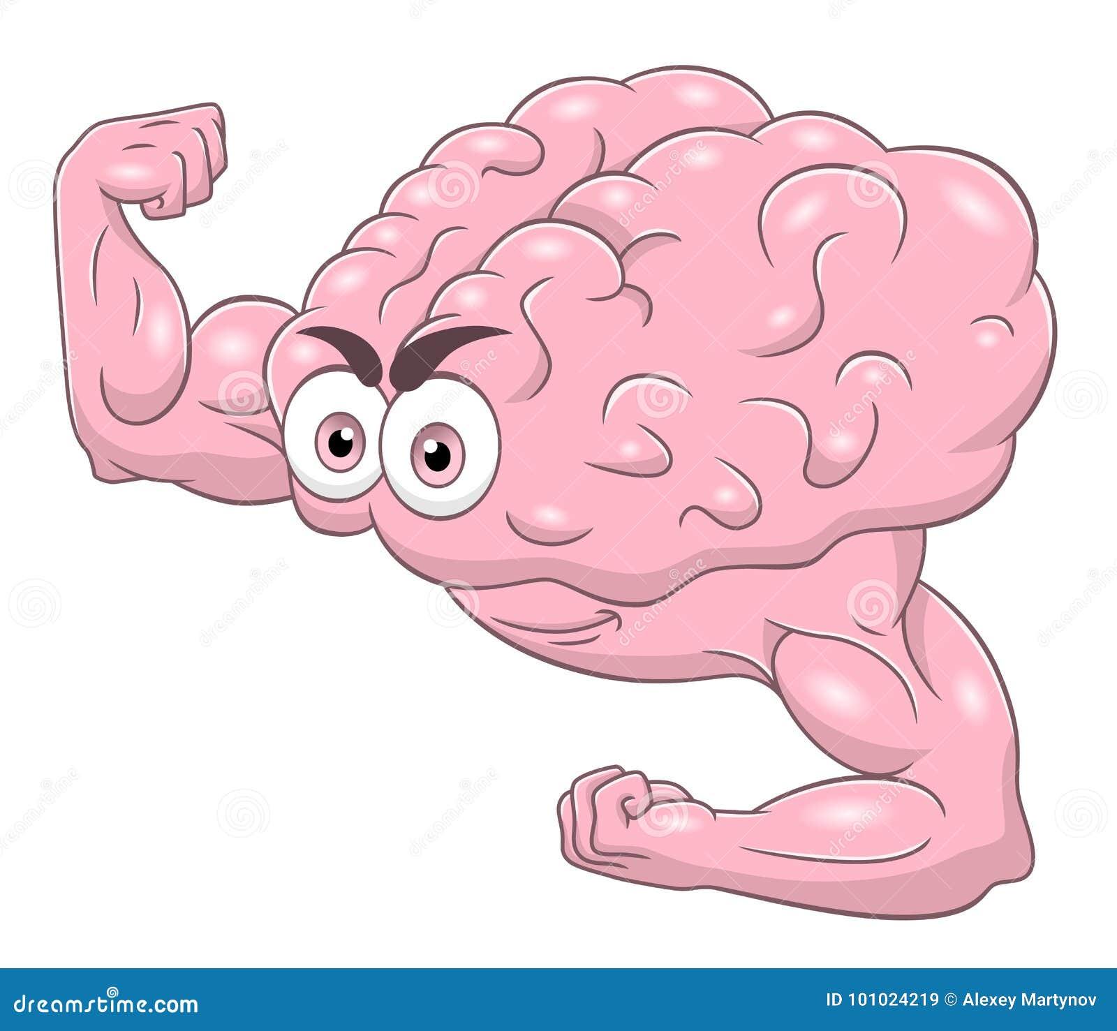 Cartoon strong brain