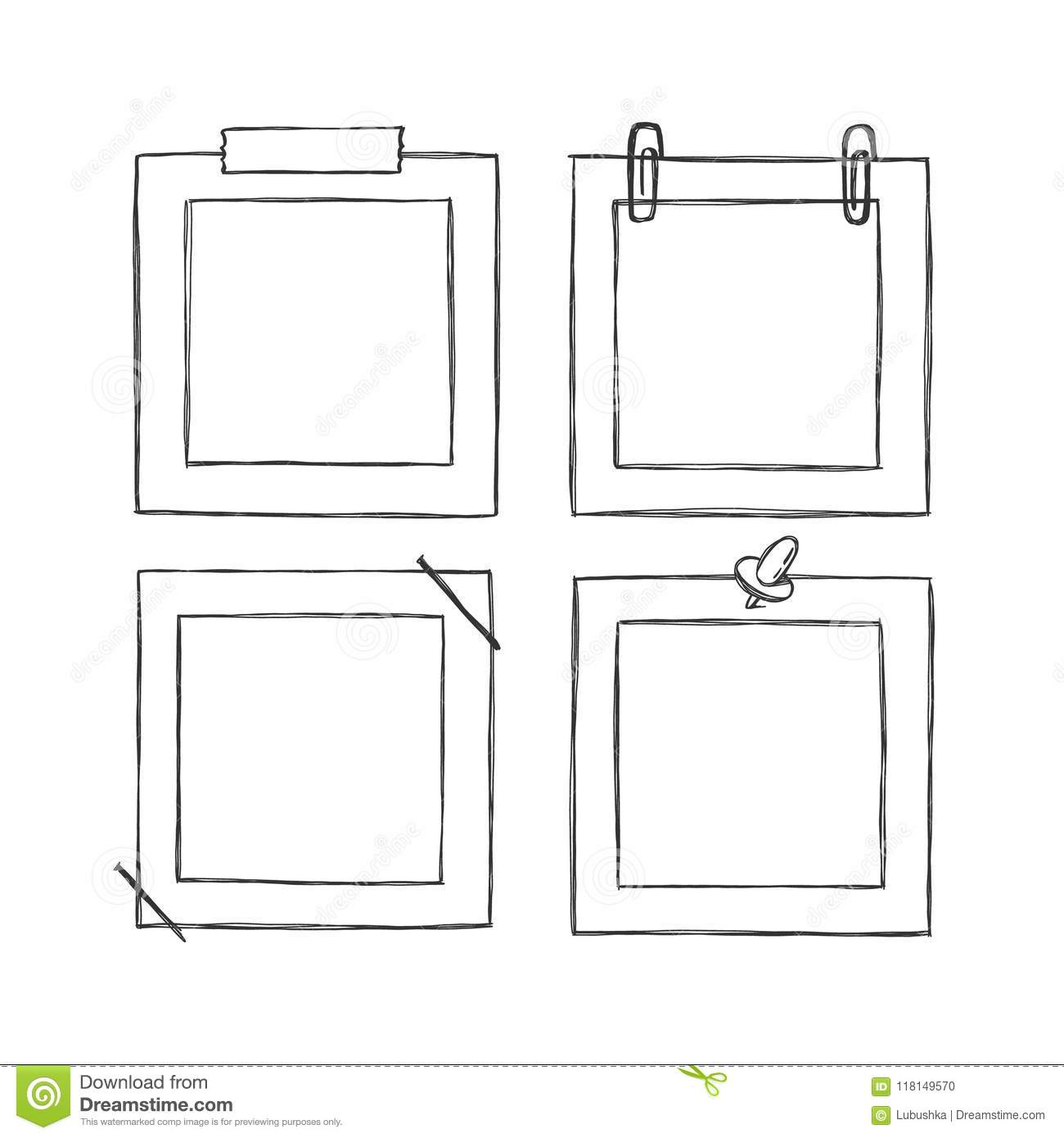 Cartoon Style Decorative Vector Template Frame These Photo Frames You Can Use For Kids Picture Or Funny Photos Scrapbook Design Concept