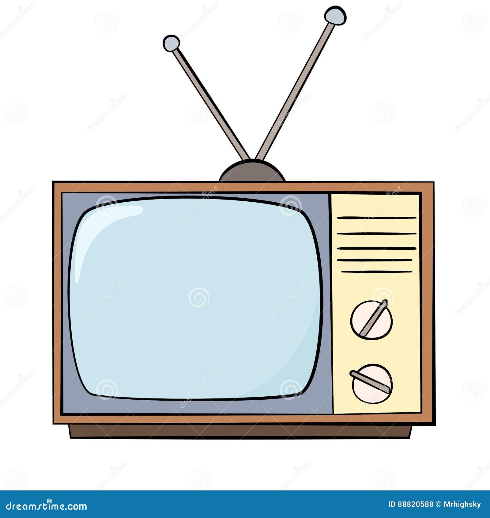 tv drawing. royaltyfree vector tv drawing