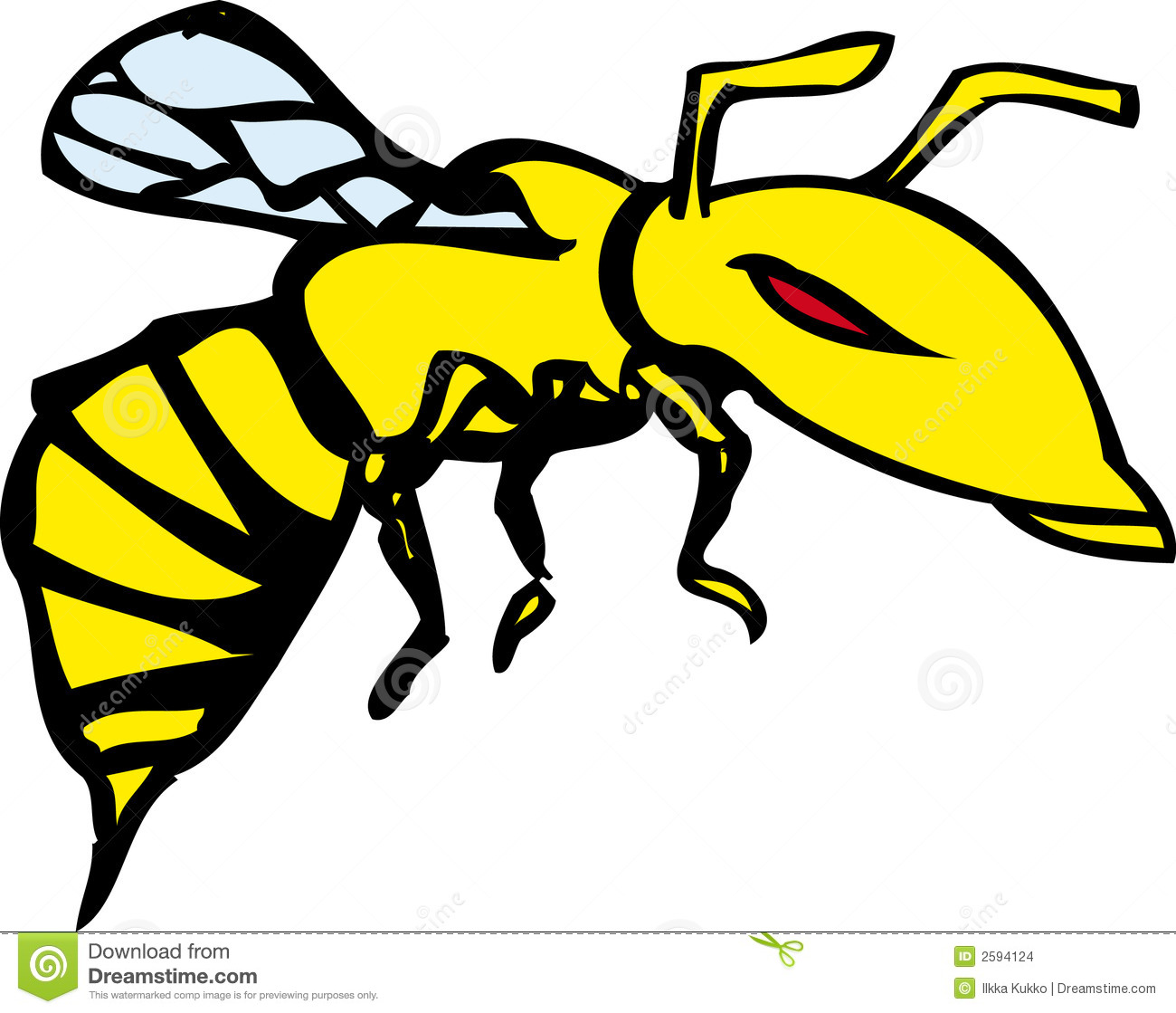 Cartoon Flying Wasp Clip Art Royalty Free Stock Images - Image ...