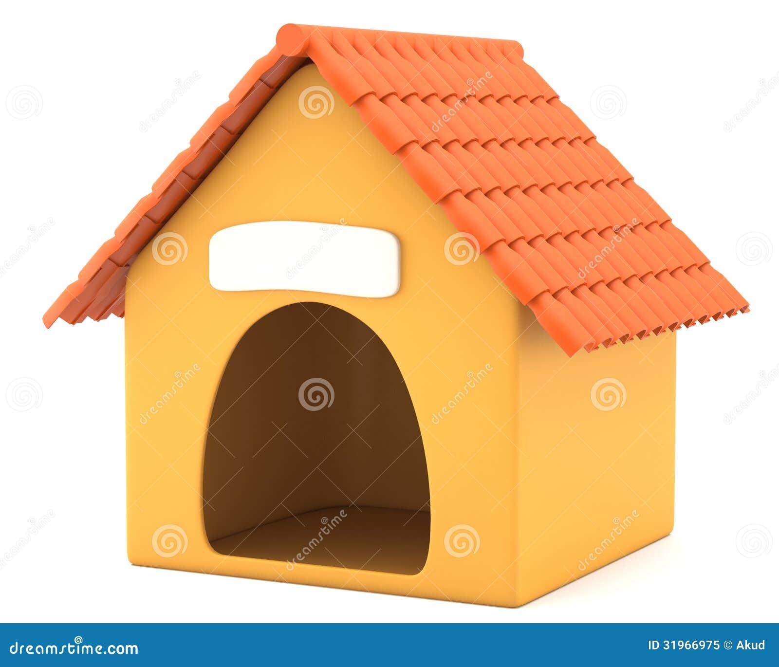 Cartoon Styled Doghouse Royalty Free Stock Photo Image