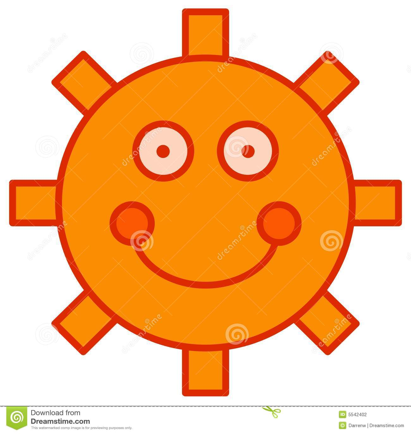 Cartoon Sun Stock Photography - Image: 5542402