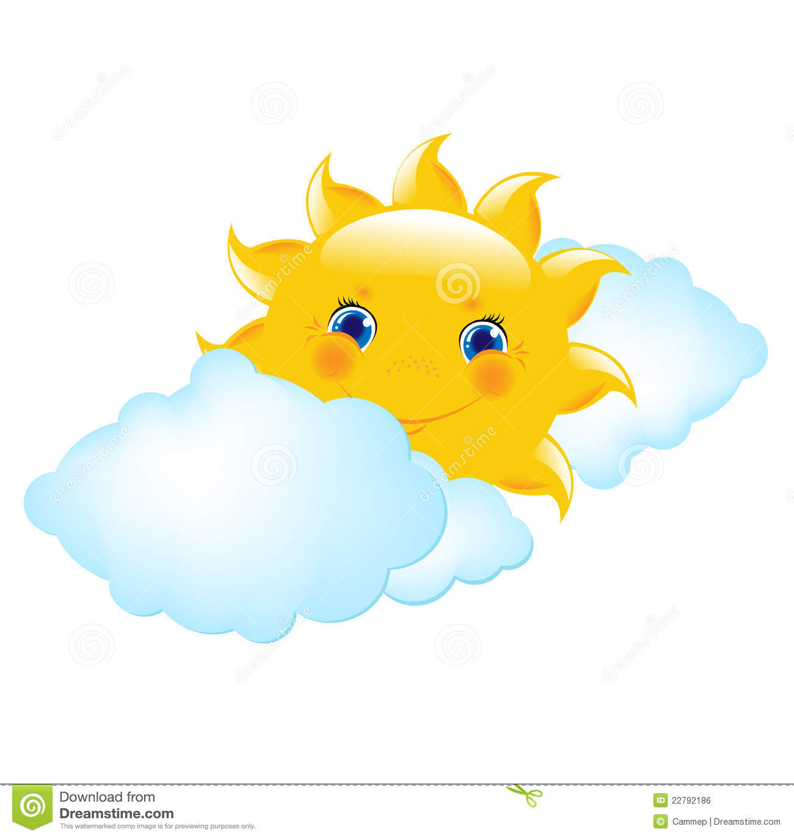 Cartoon Sun And Cloud ...