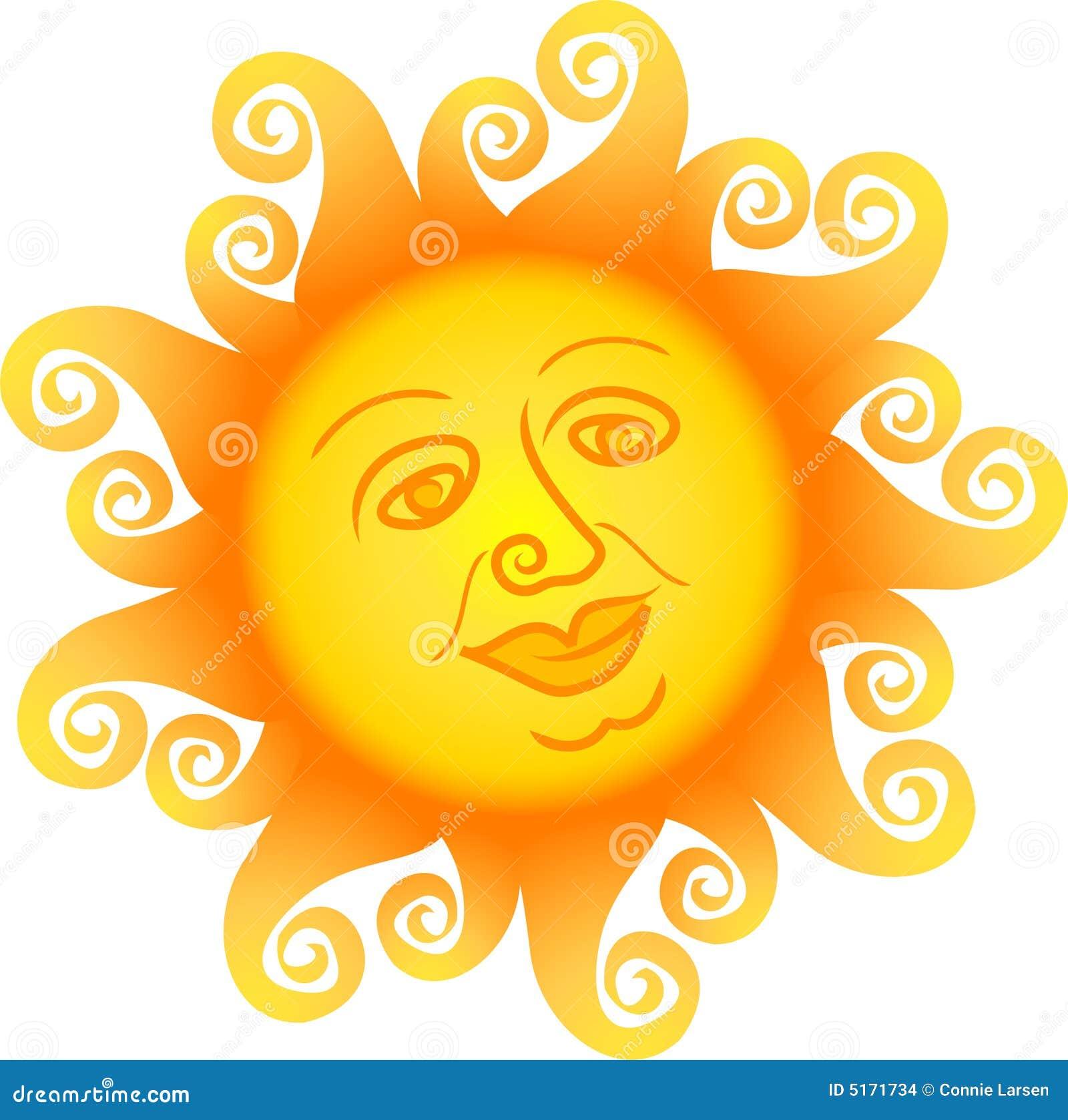 Cartoon Sun Face/ai