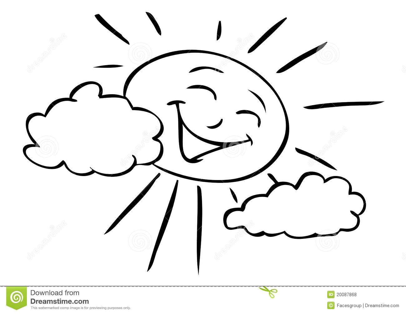 Cartoon Sun Smiling Stock Vector Image Of Graphic