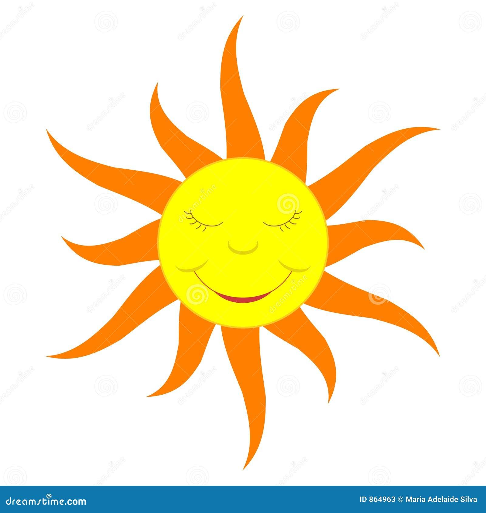 Cartoon Sun solid Color Stock Photos Image 864963