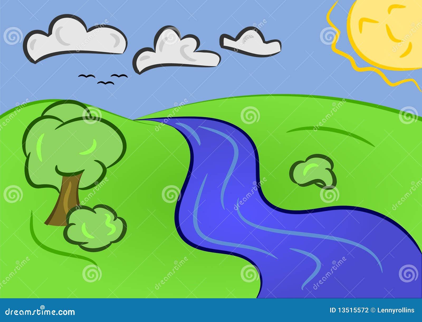 Cartoon Sunny Day Stock Photography