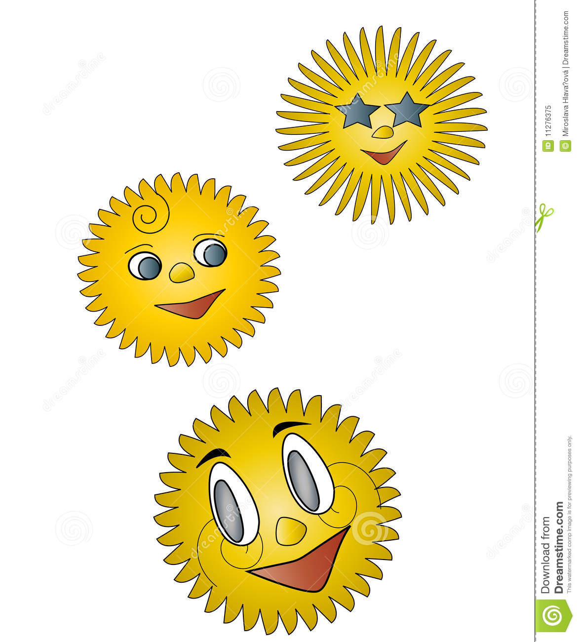 Cartoon Sunshine Royalty Free Stock Photo - Image: 11276375
