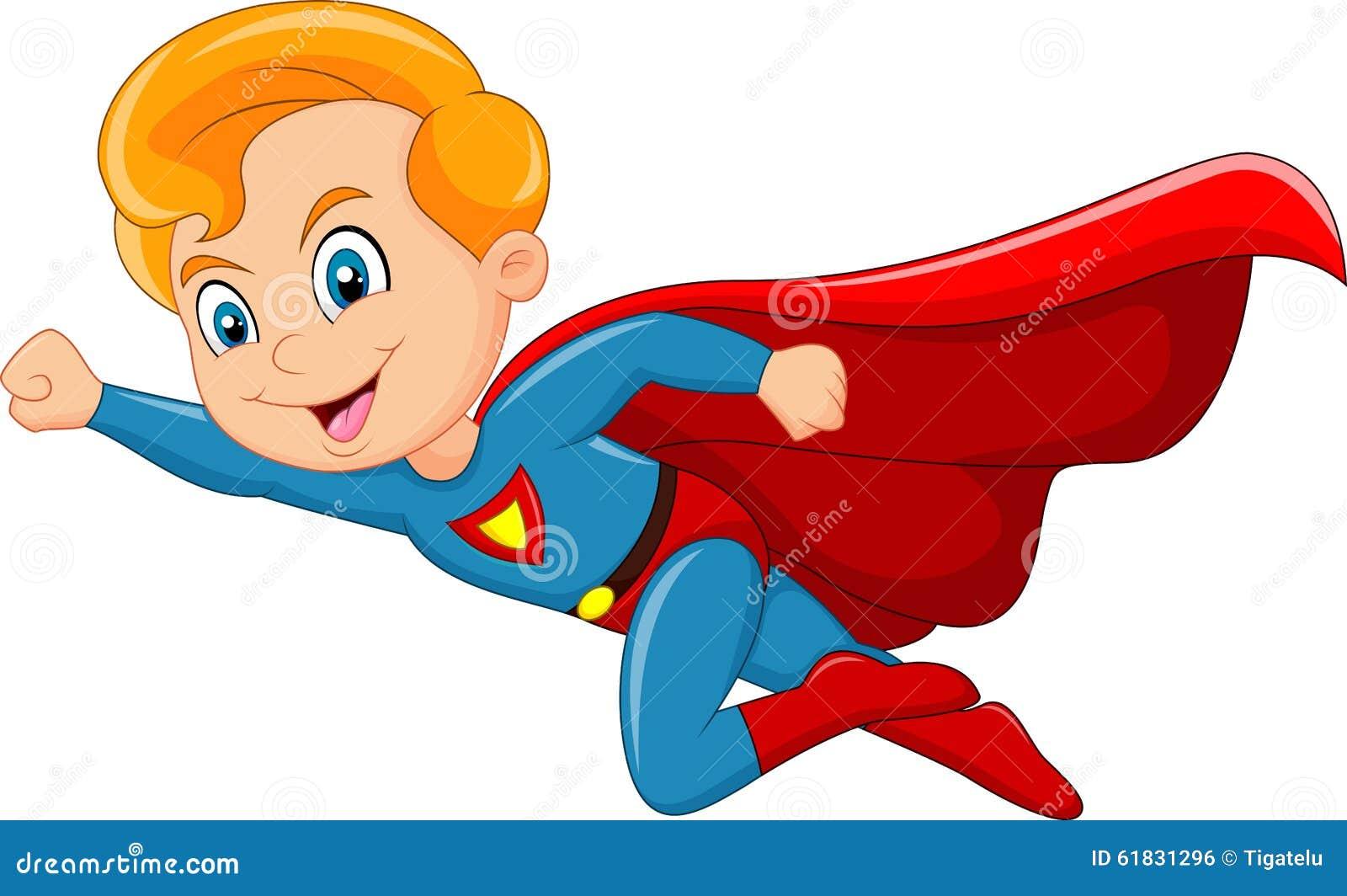 Cartoon Super Hero Boy Posing Stock Vector - Image: 52776927