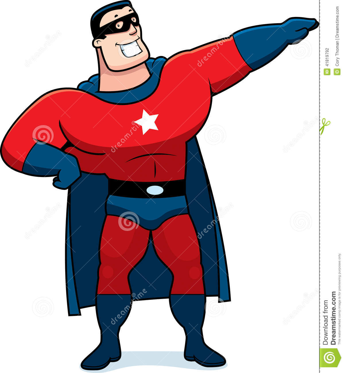 Cartoon superhero man stock vector illustration of - Superhero dessin ...