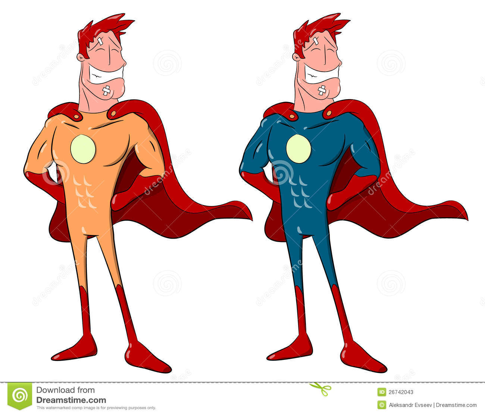 Cartoon Superheroes Stock Photos - Image: 26742043