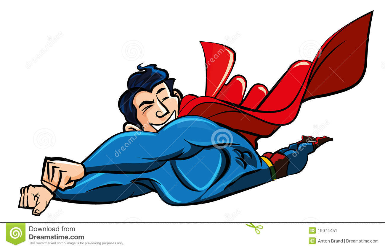 clipart superman flying - photo #23