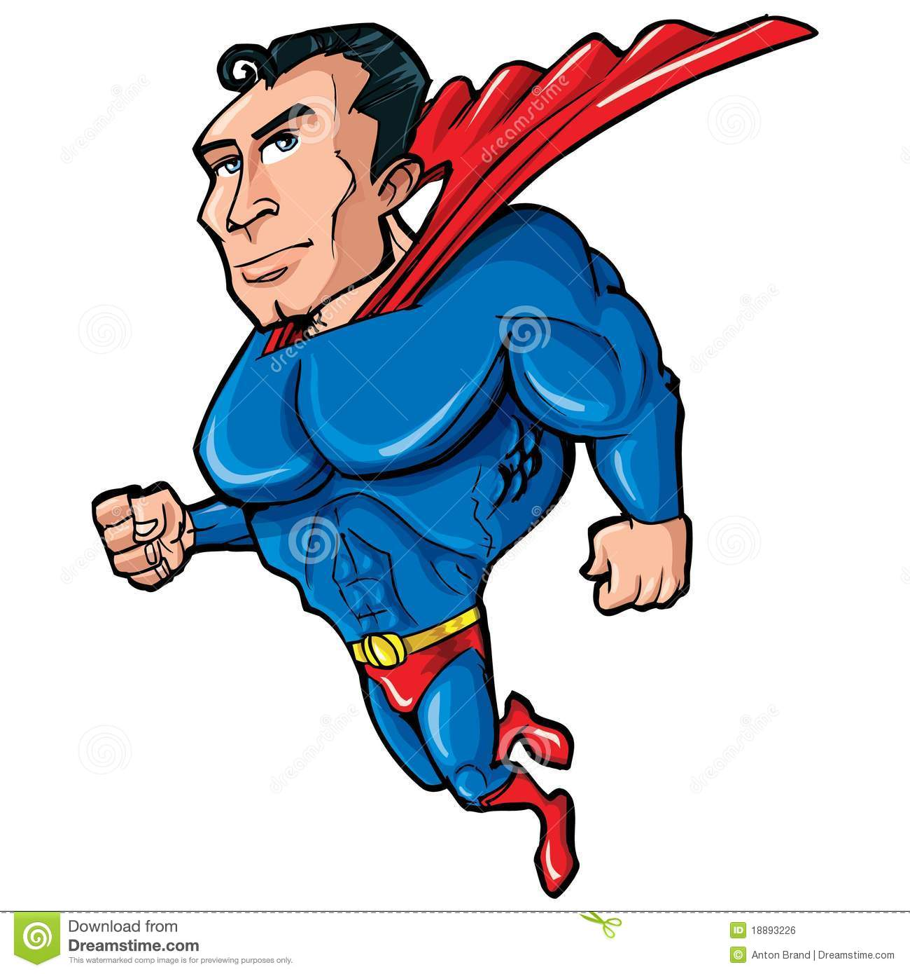 Cartoon Superman With Huge Chest Royalty Free Stock Image - Image ...