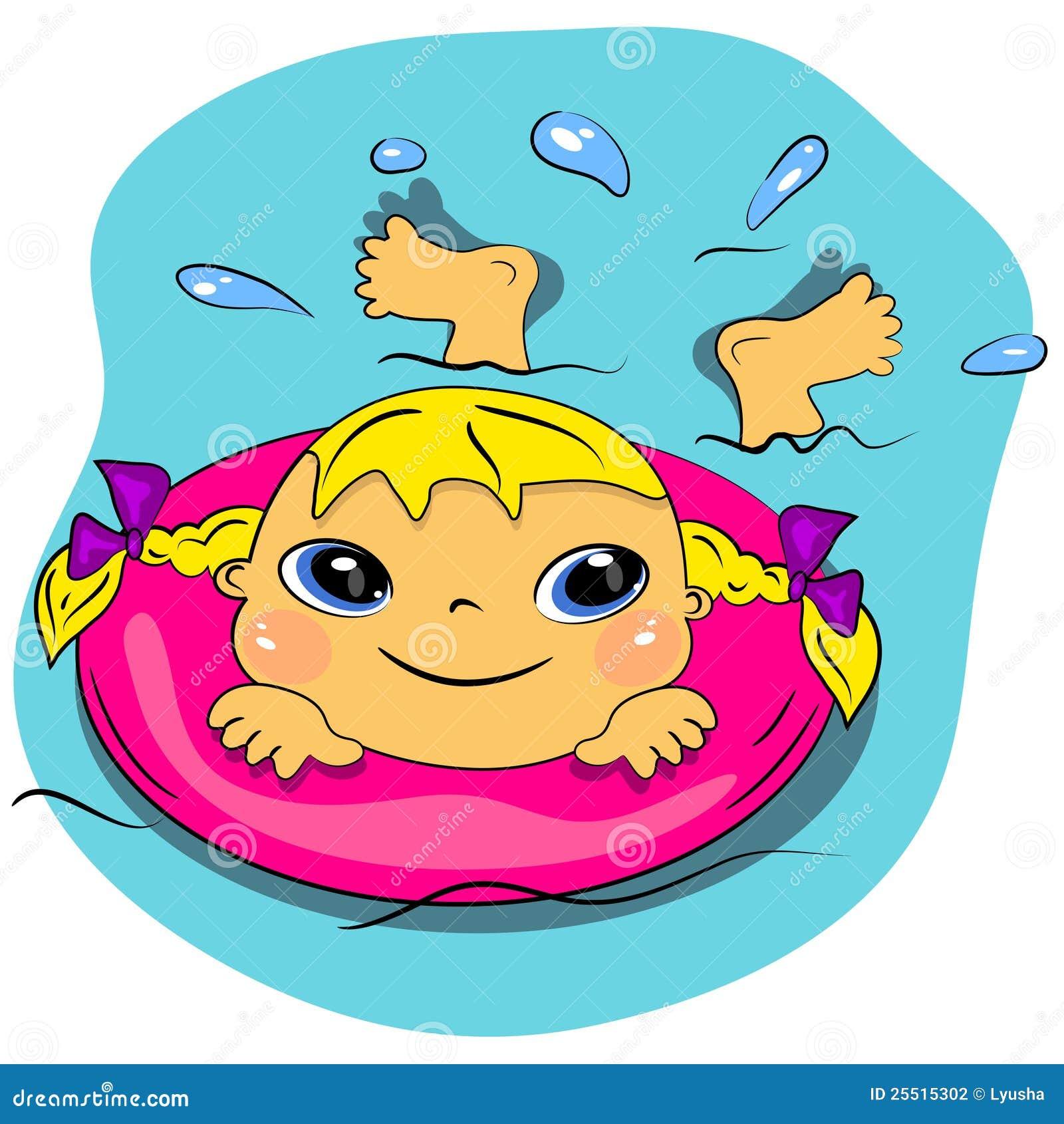 Swim cartoon video
