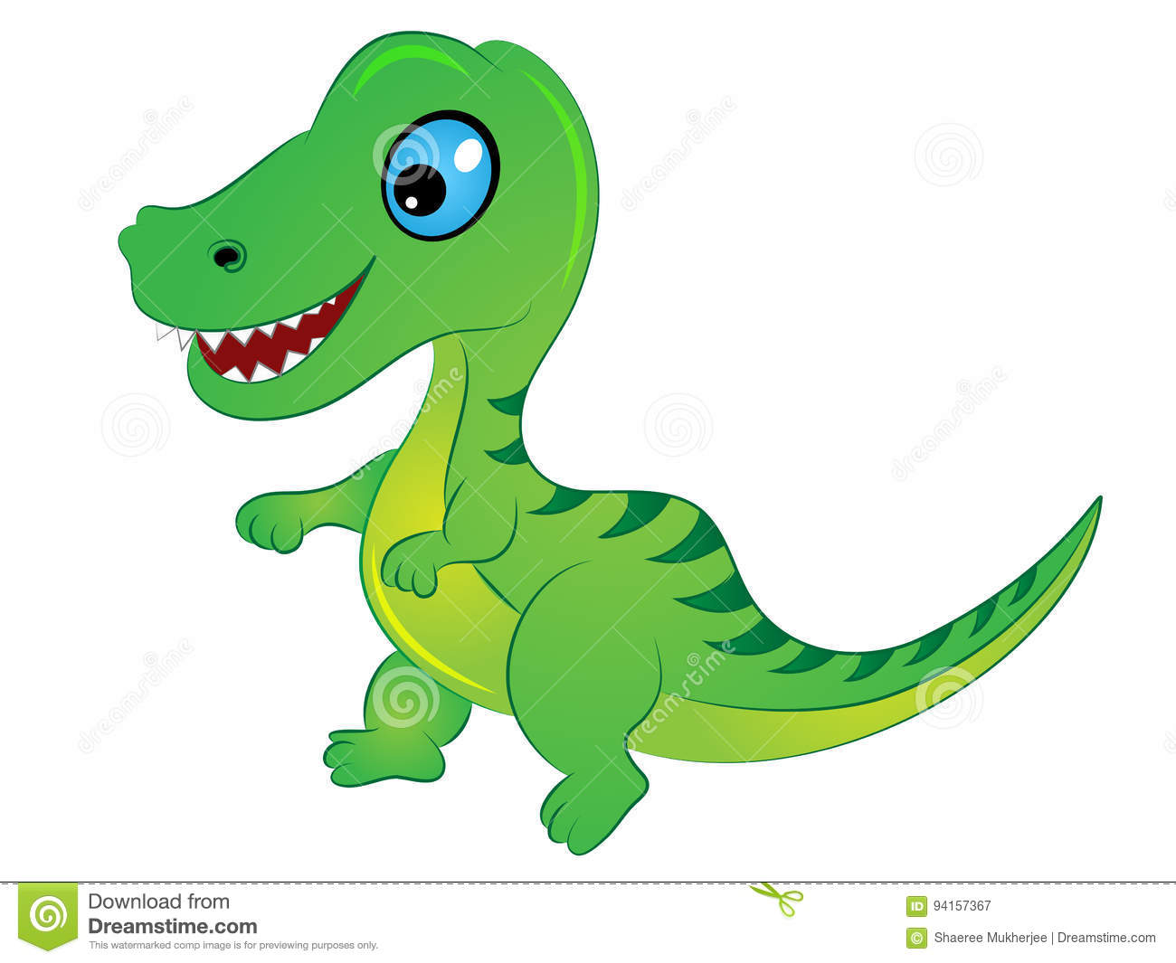 Cartoon T Rex Dinosaur stock vector Illustration of clipart