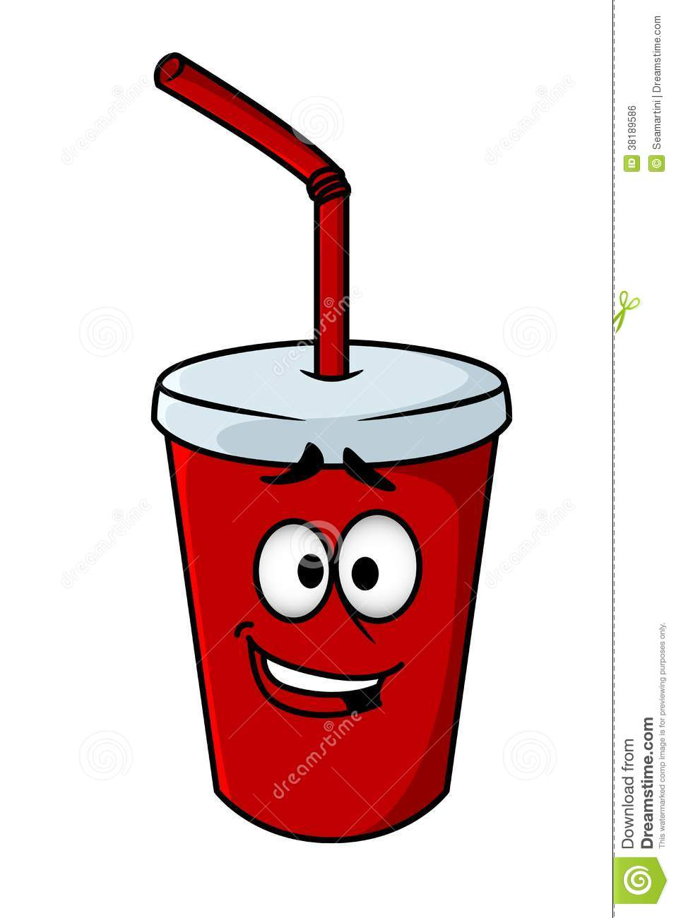 Cartoon Clipart Of A Black And White Goofy Smiling Soda Bottle ...